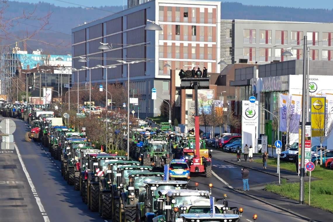Traktor Demo Wiesbaden Bauern streiken 1379 2