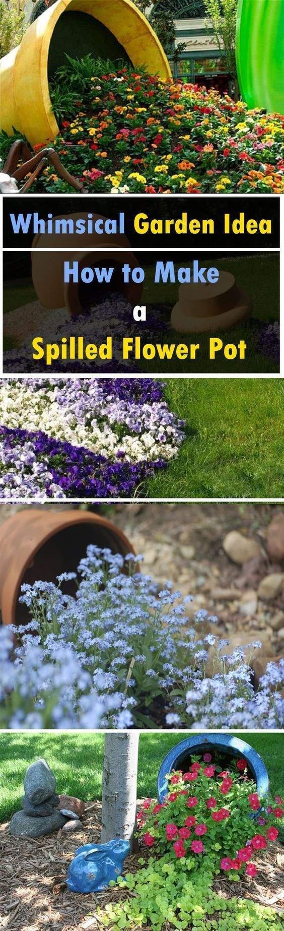 Garten Versicherung Einzigartig Add A Whim to Your Garden Make A Spilled Flower Pot It