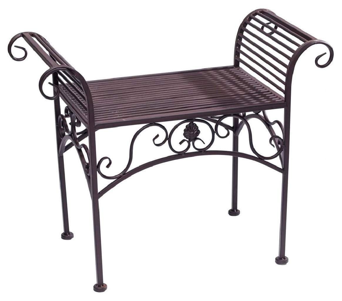 bank garten genial antique style garden bench metal brown furniture park nostalgic 70cm of bank garten