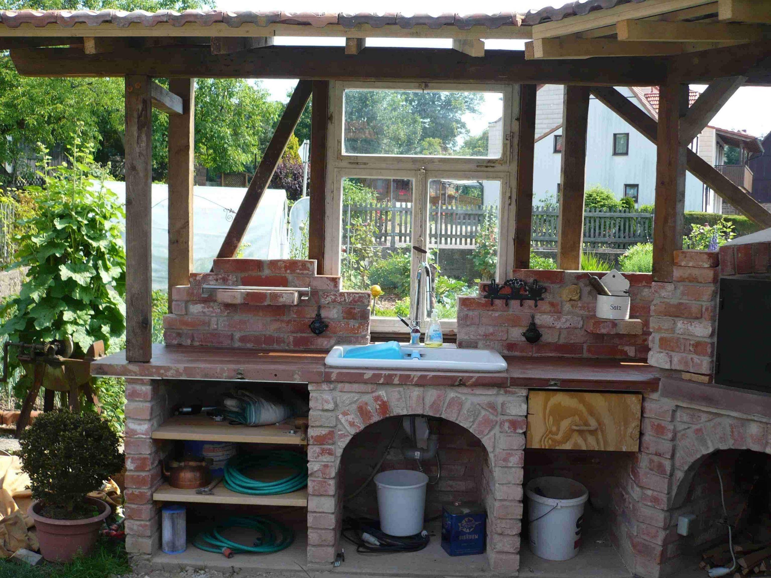 Garten Waschbecken Selber Bauen Elegant Außenküche
