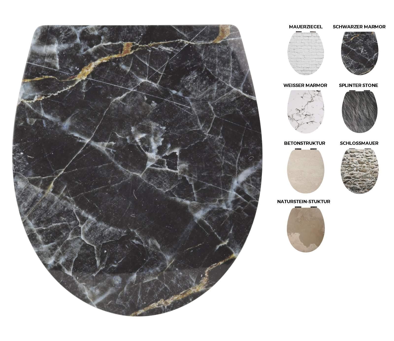 26lp5649 05 wc sitz motiv schwarzer marmor