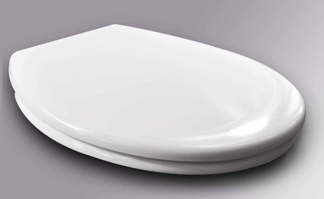 WC Sitz Kunststoff Weiss mit Absenkautomatik und Schnellbefestigung 2327