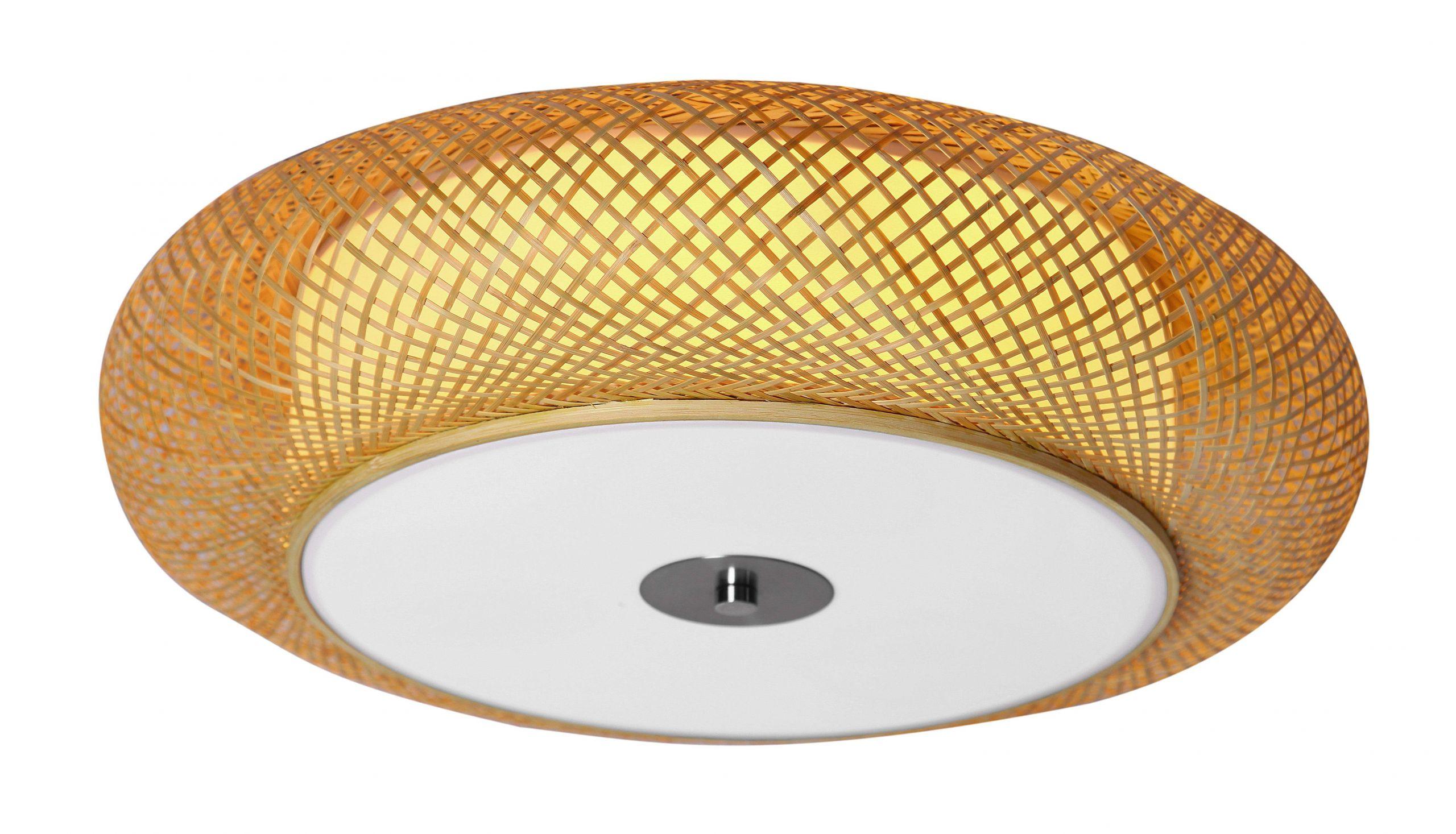 svjetiljka stropna bijela prirodne boje trend drvo marama