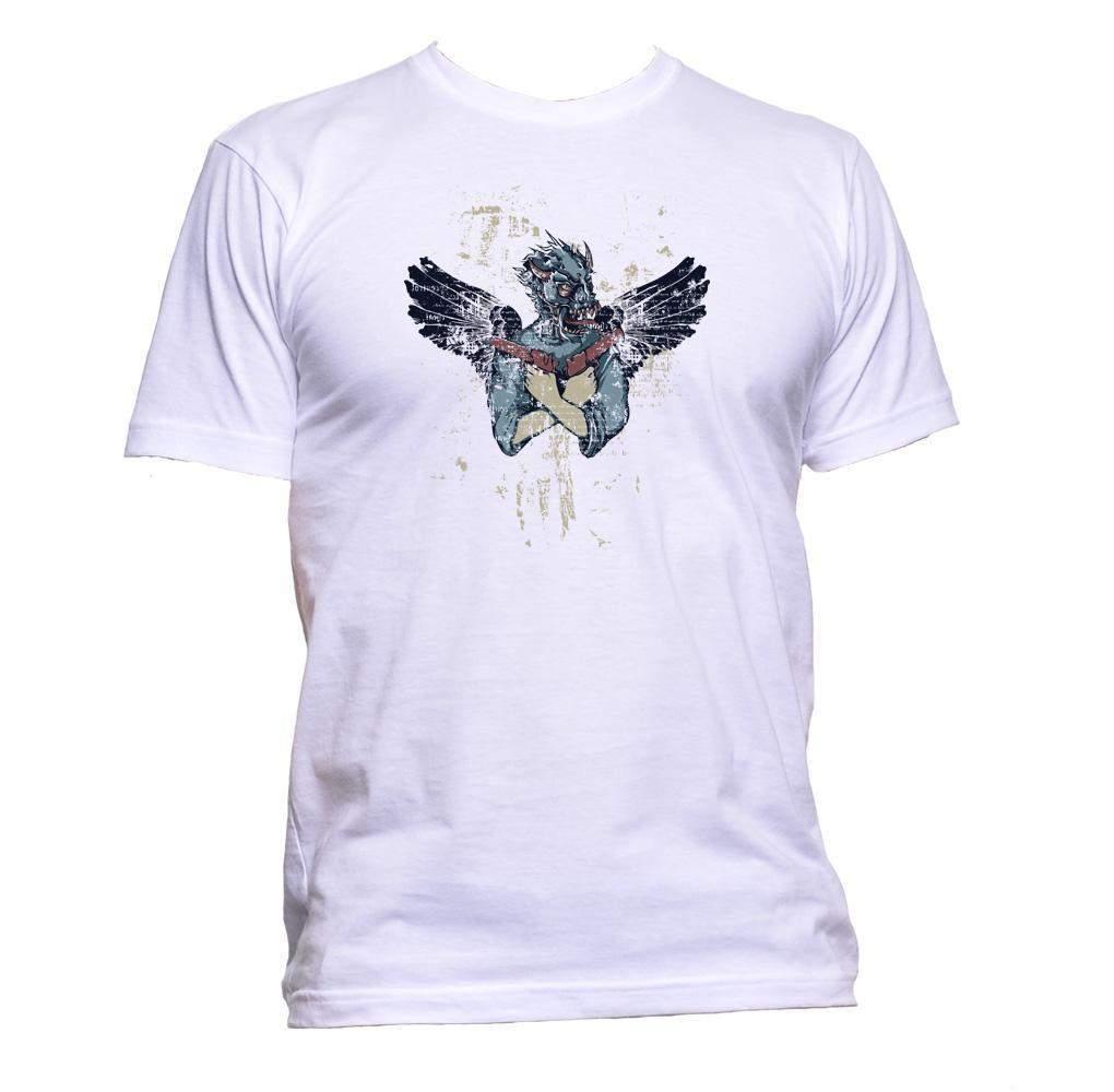 maske und fl gel zeichnen t shirt mens womens