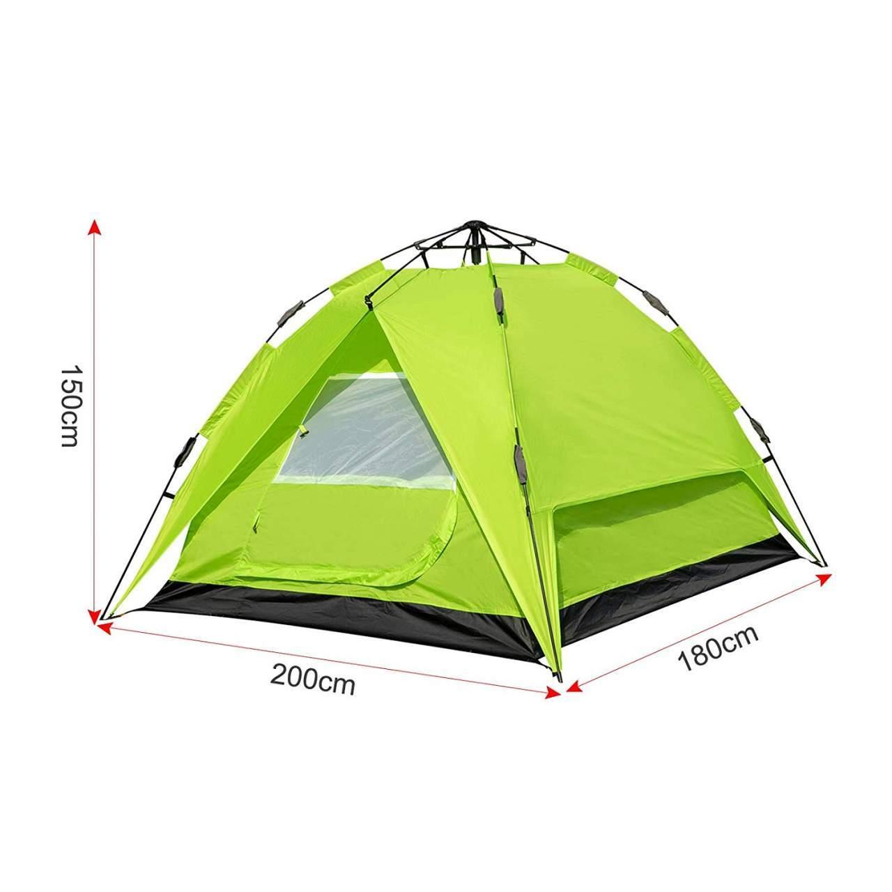 Camping Zelt 2 3 Personen Schnellaufbau mit Quick Up System CPZ8142gn 5