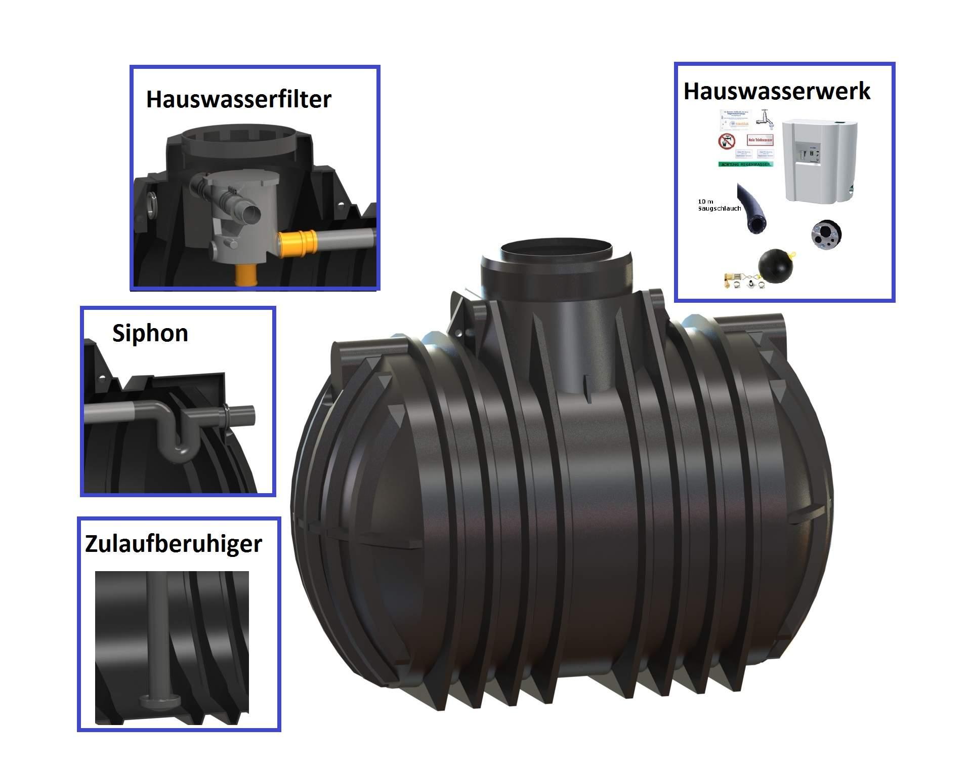 35 7001 0080 RM10 Atlantis 7000 Liter Hauswasseranlage