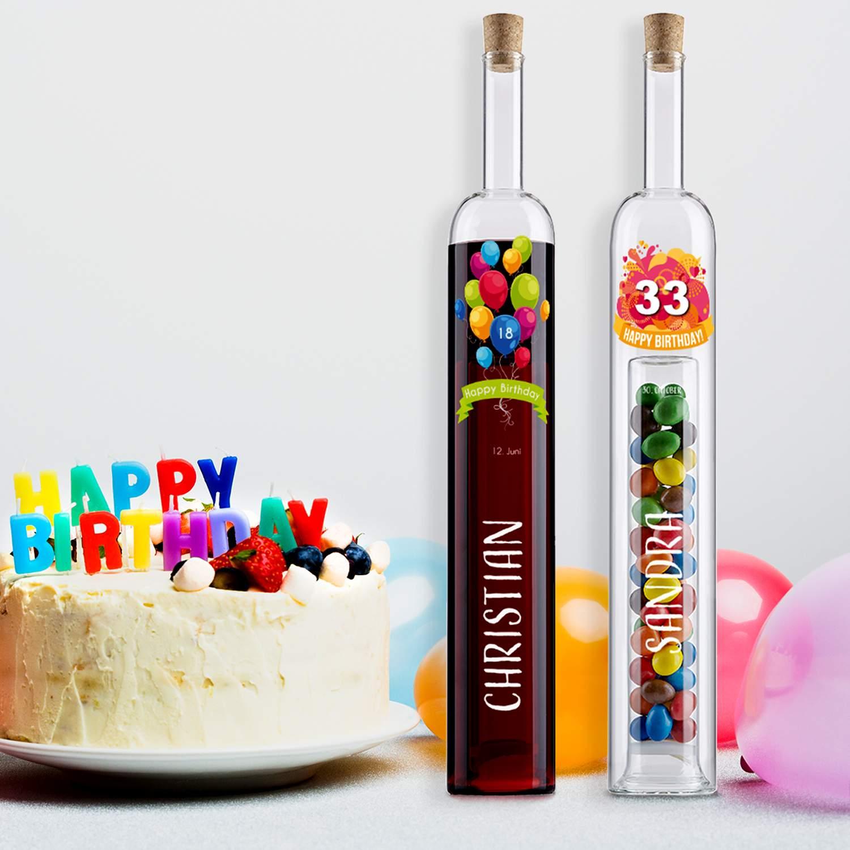 Hohlraumflasche Druck Happy Birthday Luftballons Startbild G24