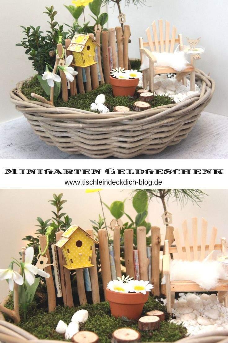 Geldgeschenk Garten Basteln Inspirierend Minigarten Frühlingshaftes Geldgeschenk Zum Runden