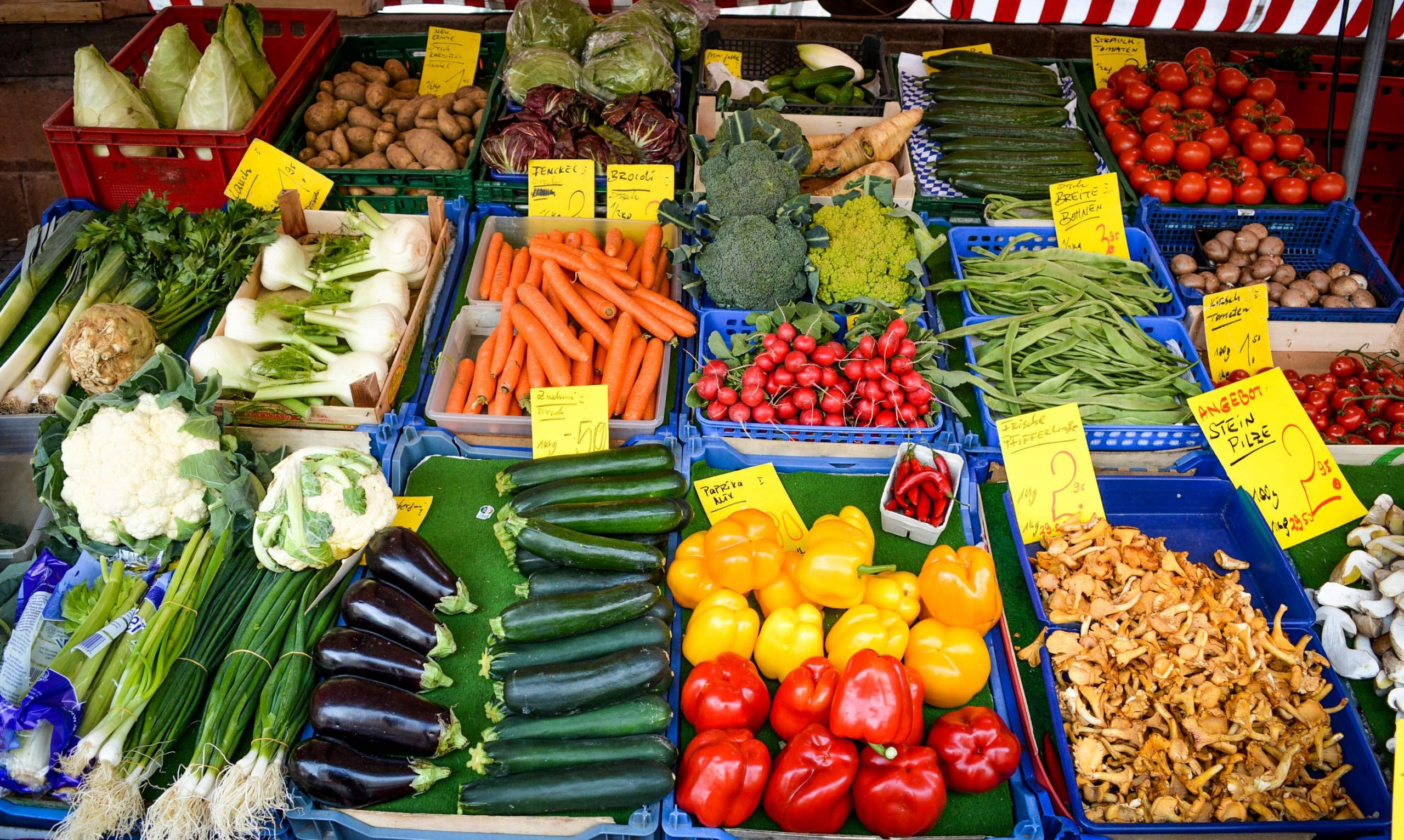 Ve able Market in Nuremberg 2015