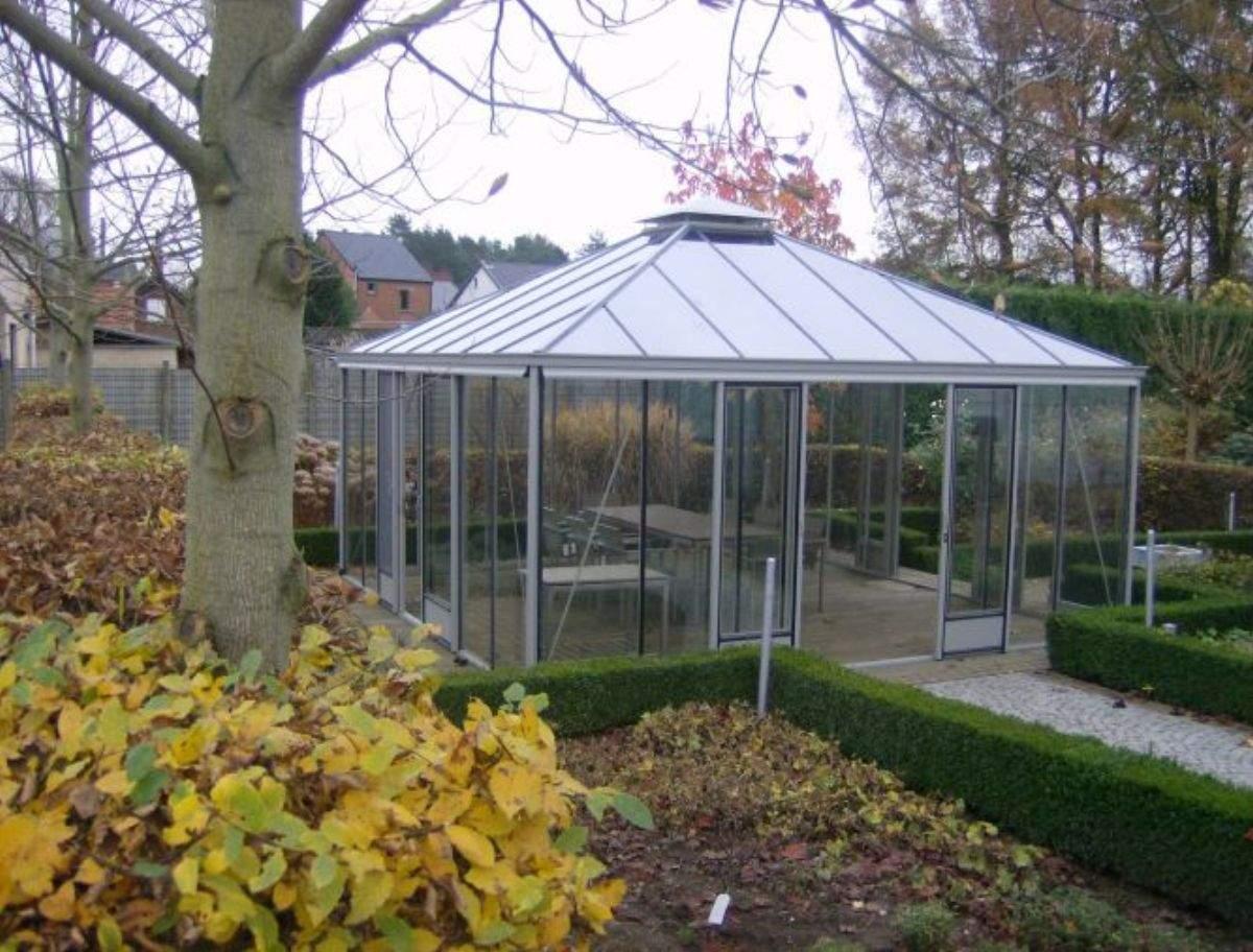 Glaspavillon Garten Luxus Glaspavillons Mit Walmdach 309 Cm 677 Cm