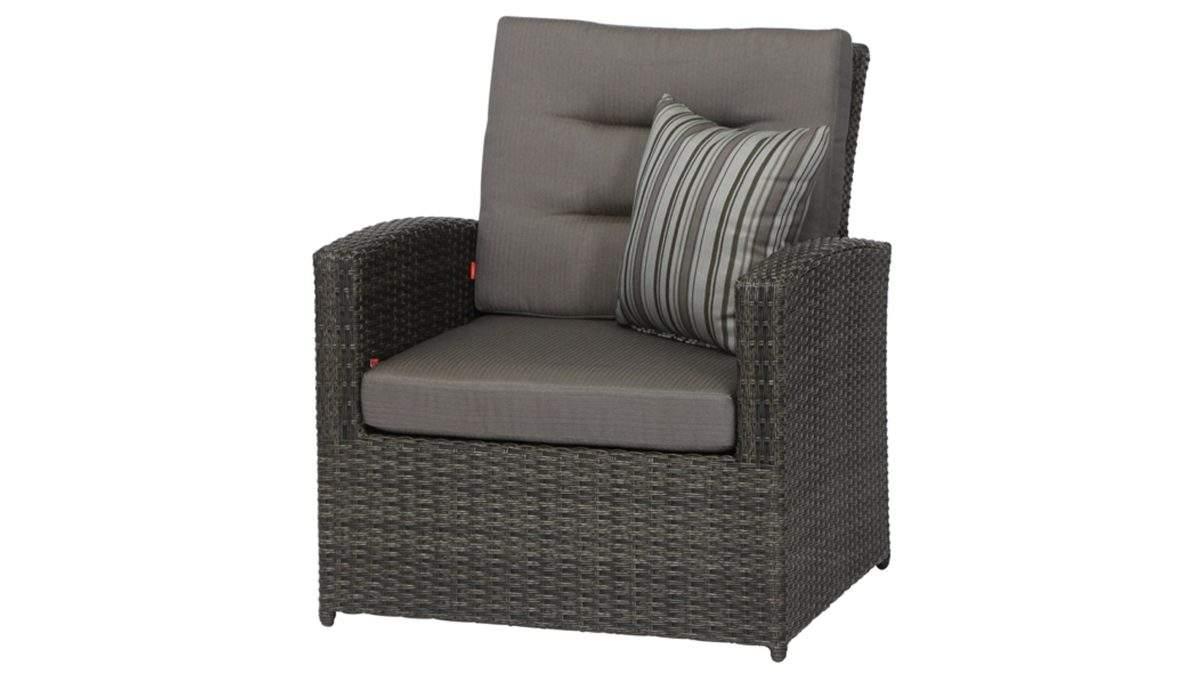 Moebel A Z Garten Gartentische Sessel Gautzsch aus Geflecht in Grau siena GARDEN Lounge Sessel Porto graues Geflecht und grauer Bezug guenstiger