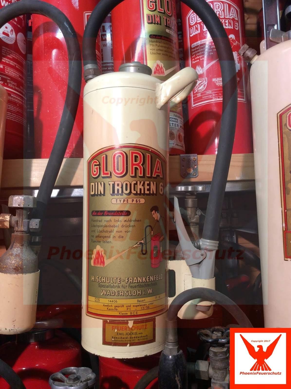 GLORIA weißer Feuerlöscher