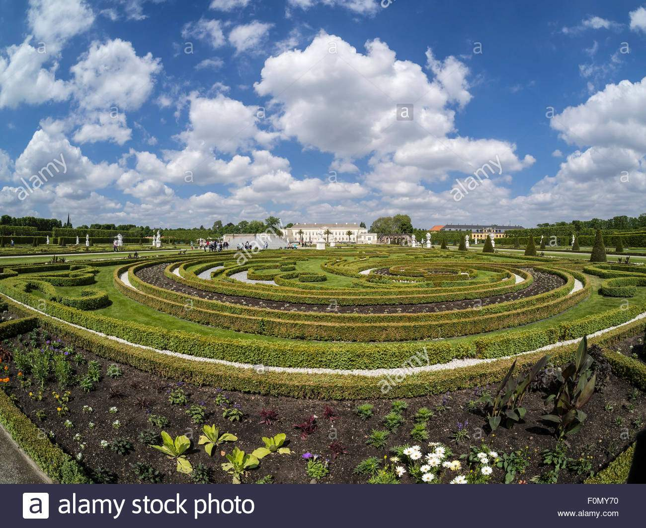 stock photo herrenhaeuser gaerten park at castle herrenhausen hannover germany