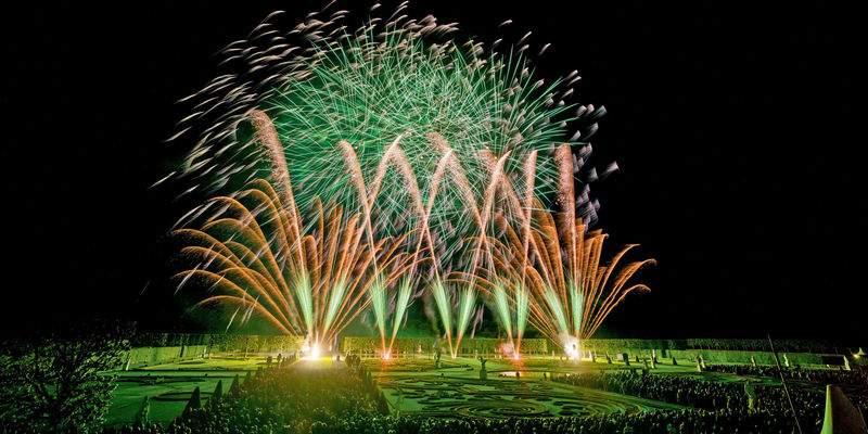 Top Teams beim Internationalen Feuerwerkswettbewerb in den Herrenhäuser Gärten