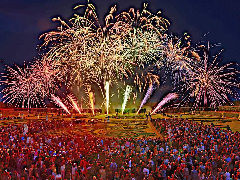 Herrenhäuser Gärten Feuerwerk Luxus Feuerwerk