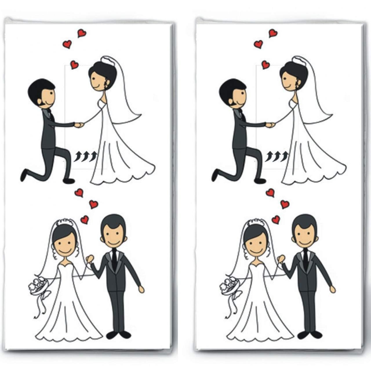 2x 10 taschentucher married couple verliebtes hochzeitspaar 1280x1280