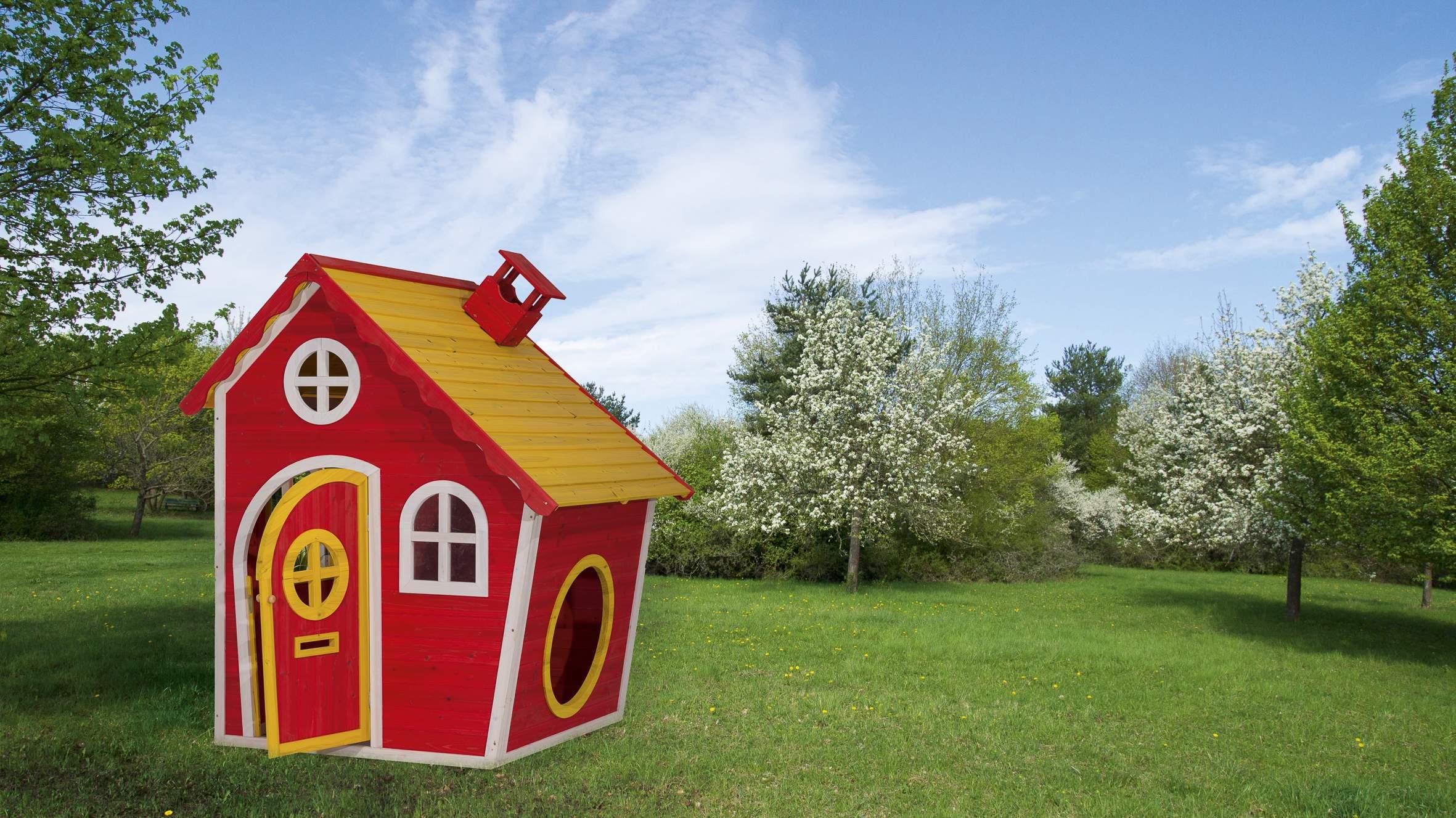 Kinderspielhaus Mia mit Blumenkasten CS58 2019 1