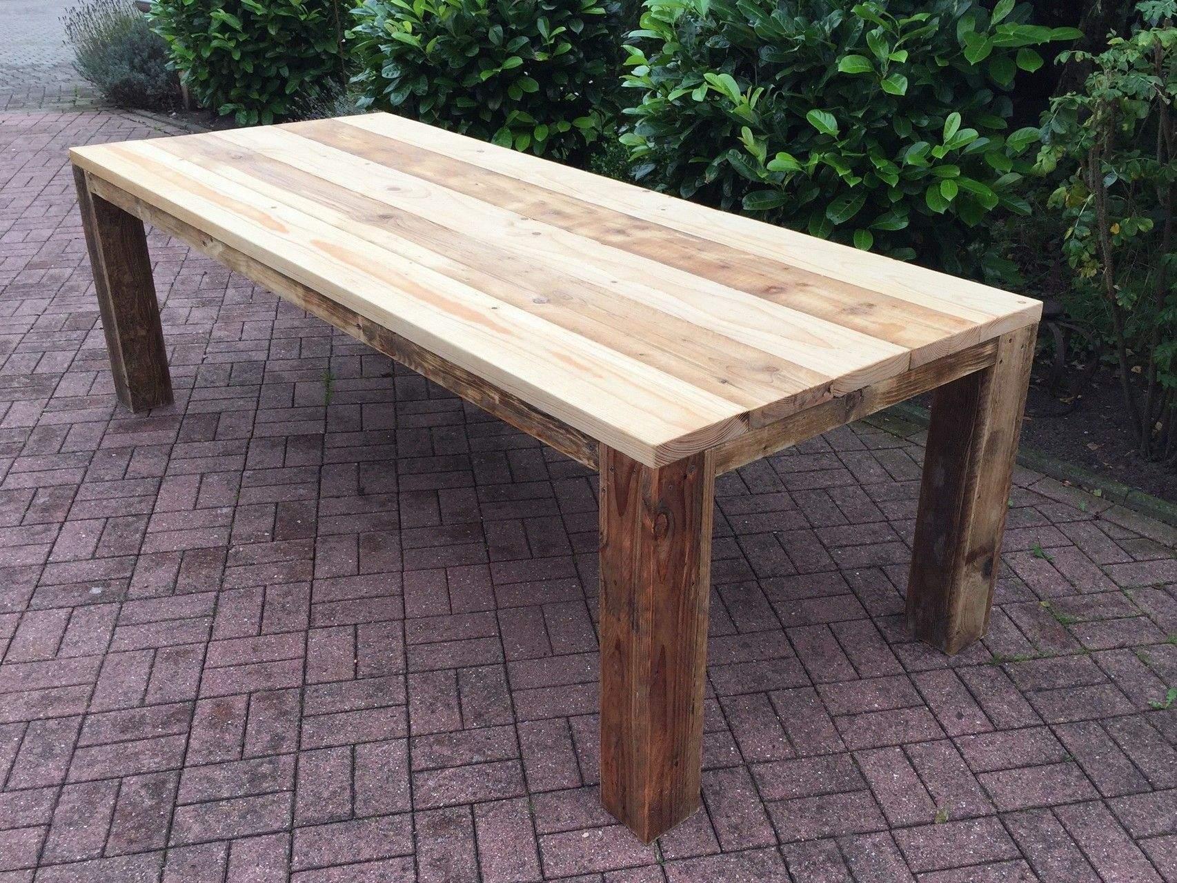 Holzbank Garten Massiv Genial Gartentisch Aus Gebrauchtem Bauholz Geölt