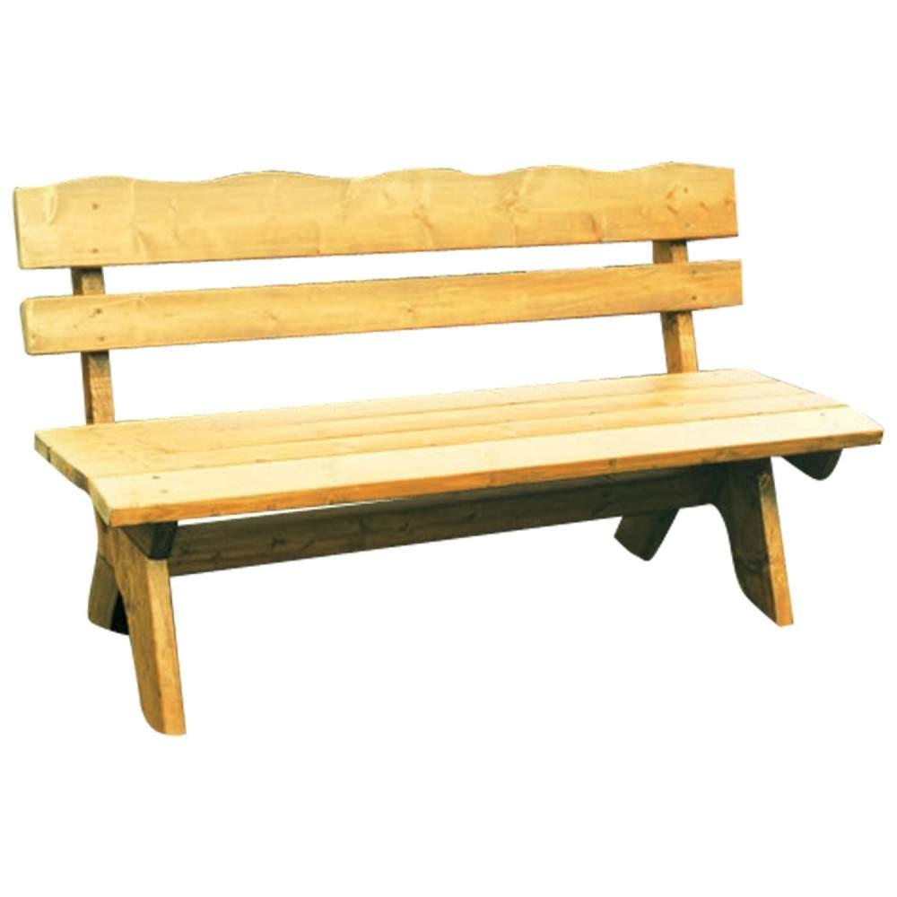Gartenbank 3 Sitzer 150x60x82cm Freital Holz