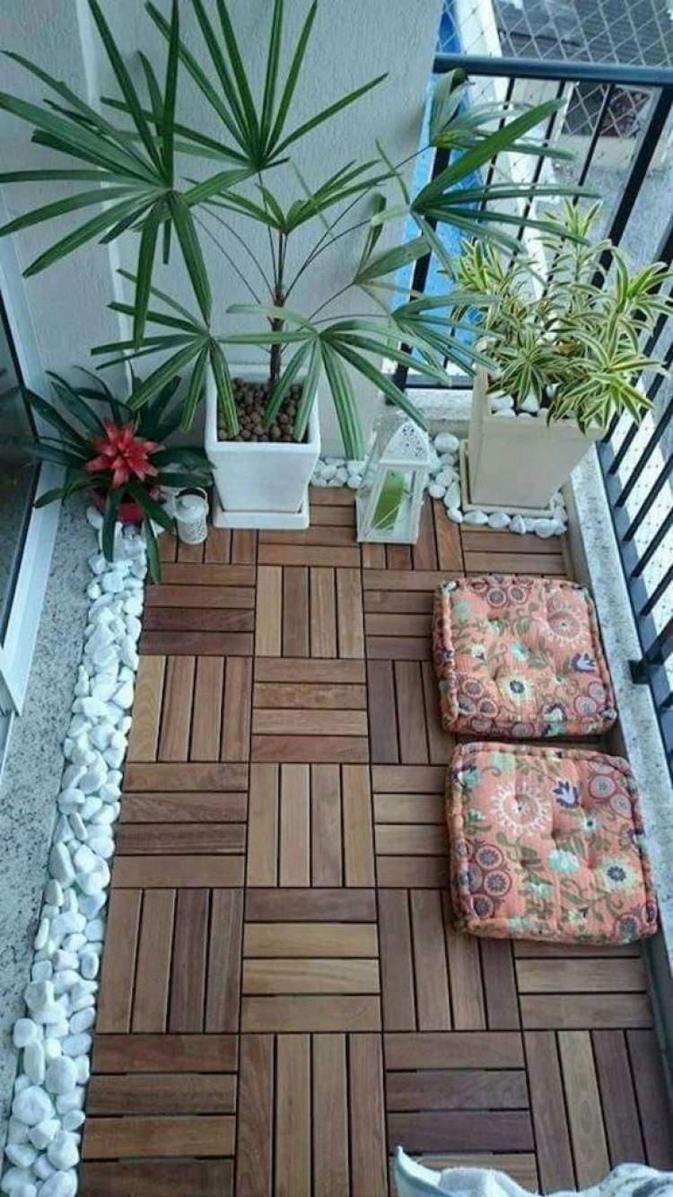 Holzfliesen Garten Reizend Diy Small Apartment Balcony Garden Ideas