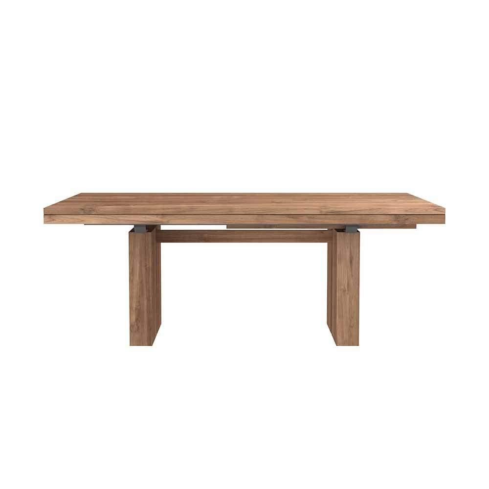 massivholz esstisch ausziehbar ethnicraft holztisch teak 074 01 04 0126 19