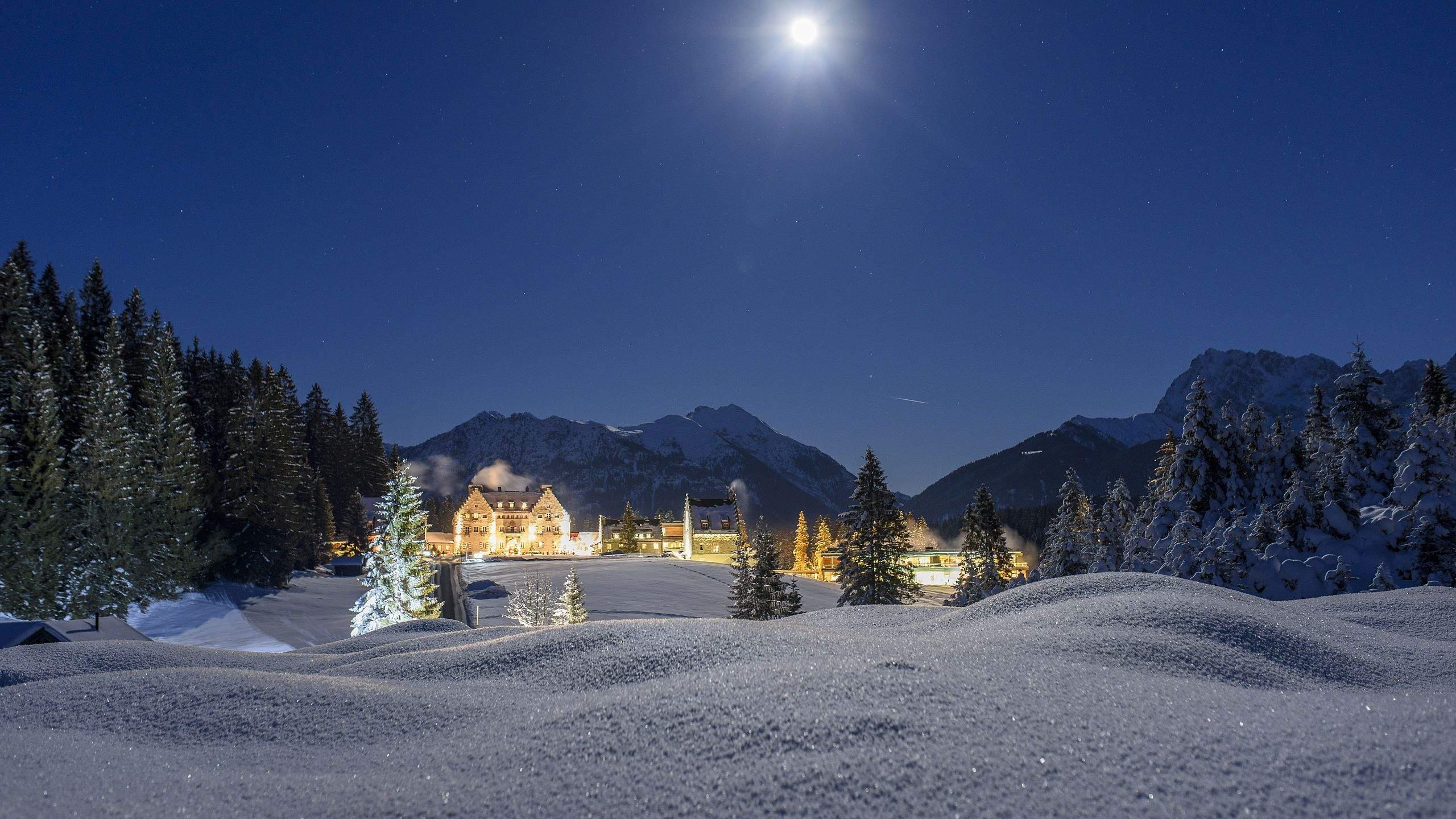 das kranzbach unterm winterlichen sternenhimmel 2
