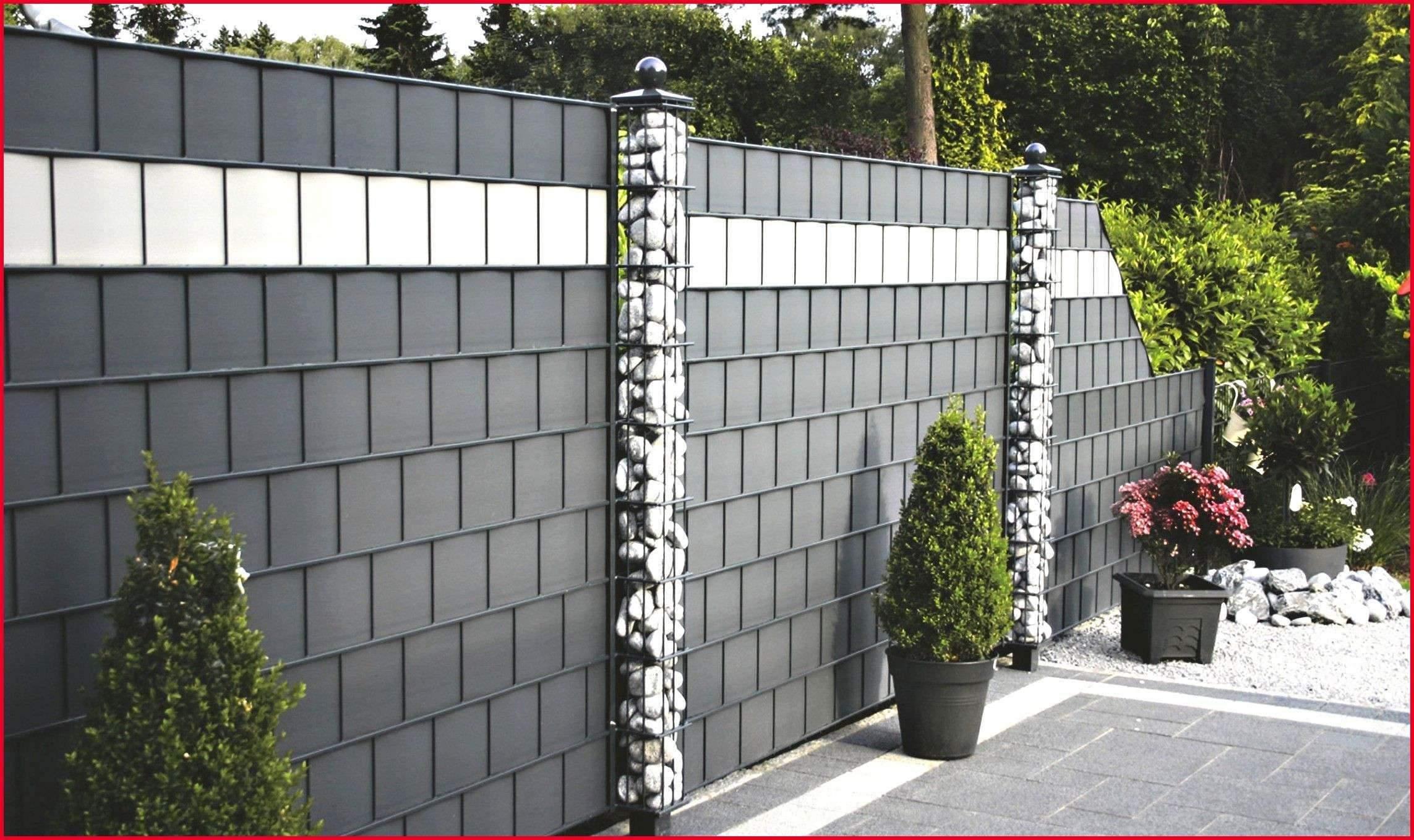Ideen Sichtschutz Garten Neu Sichtschutz Stein Beste Zaun Mit Steinen Garten Ideas Zaun