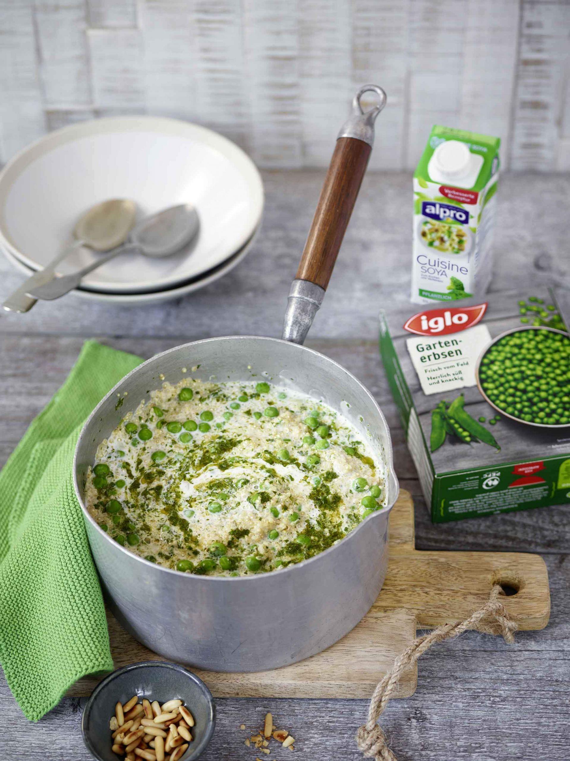 iglo alpro erbsen quinoa risotto