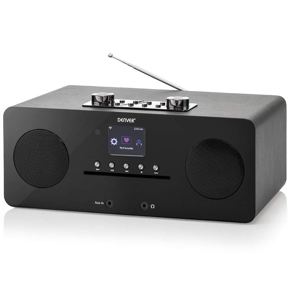 Denver DAB Musikanlage Internetradio 00 schwarz Denver DAB Internetadio Bluetooth und NFC weisse Front MIR 260