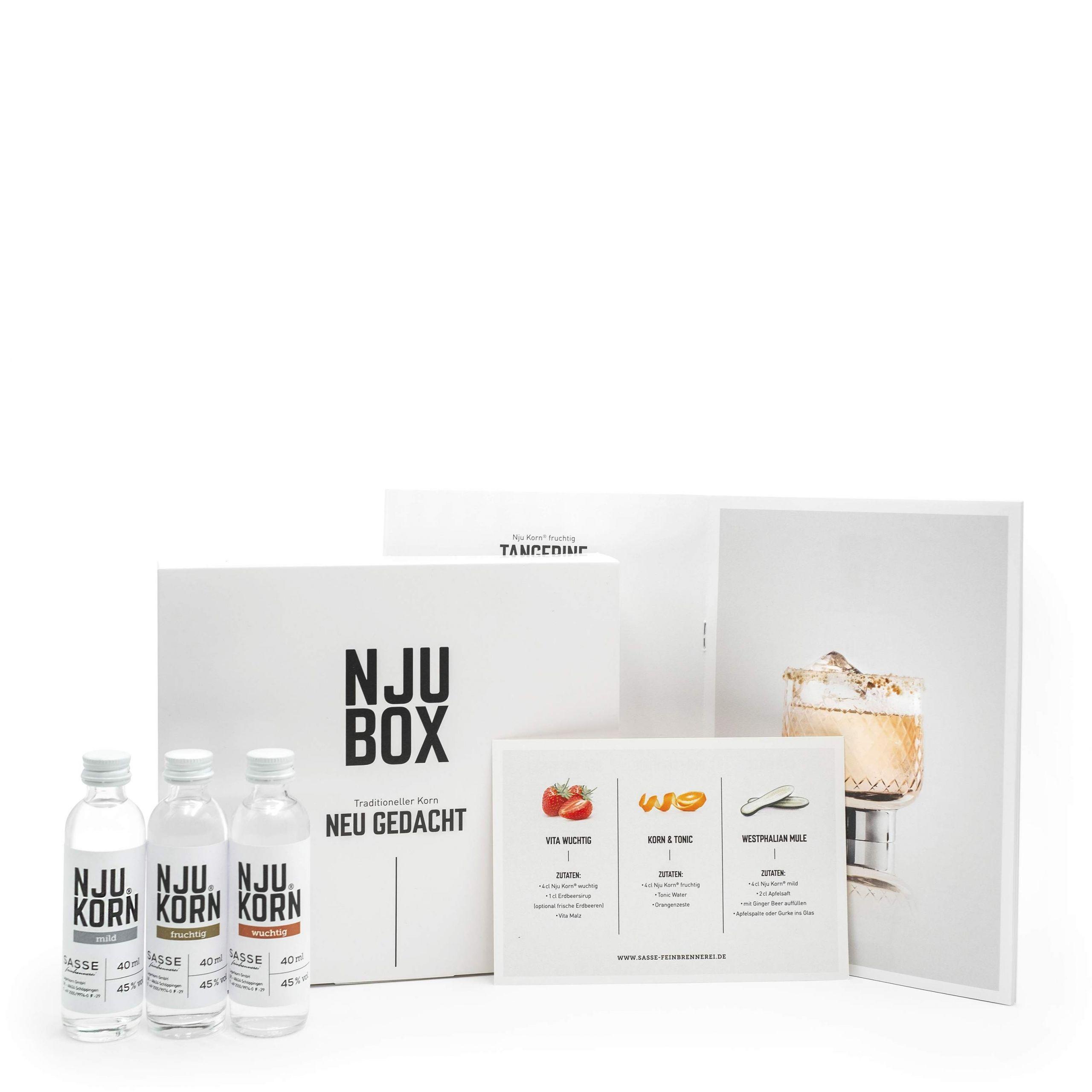 SASSE Feinbrennerei lineshop Produktbilder NJUKorn Probebox