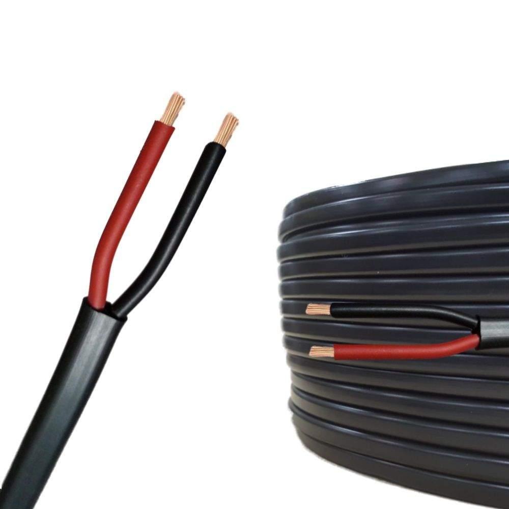 Auprotec Fahrzeugleitung Flachkabel 2 adrig schwarz rot df