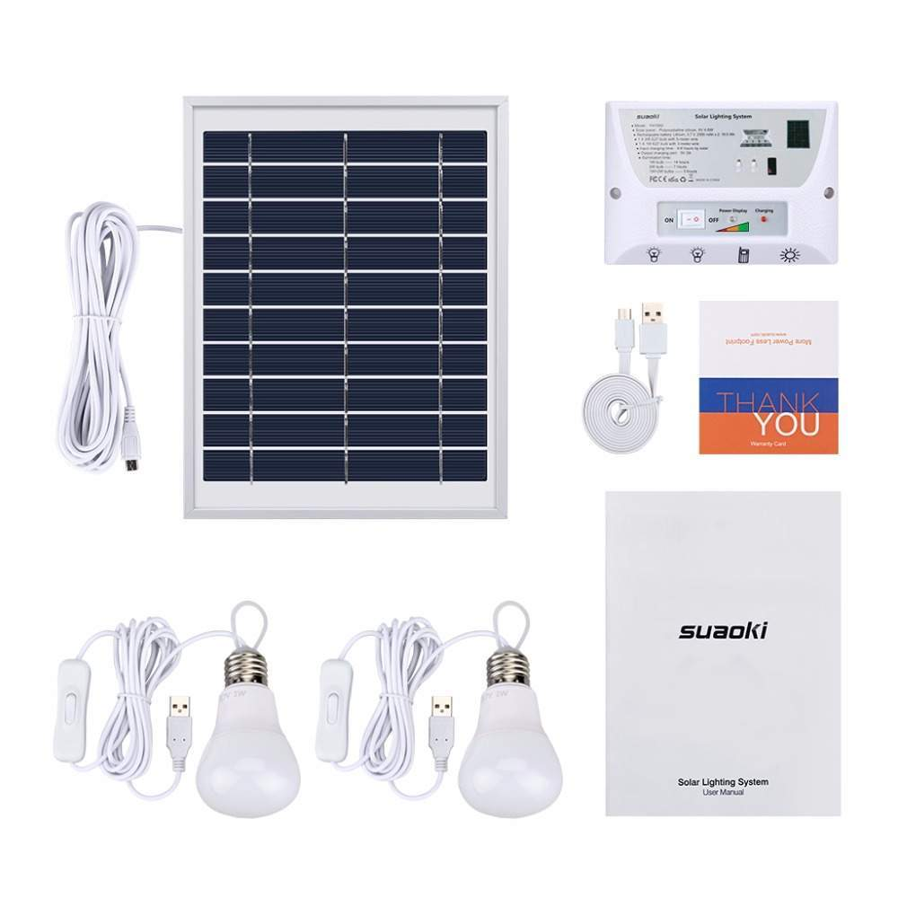 led beleuchtung garten elegant us 49 37 off suaoki solar lighting system controller portable emergency home light kit with solar panel 2 led bulbs 3 ports for camping in solar of led beleuch