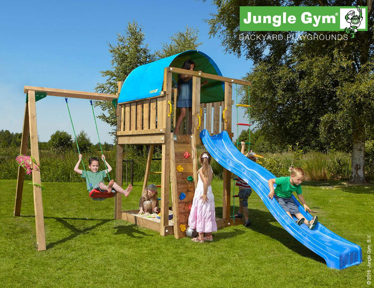 swing and slide set villa 1 swing blue