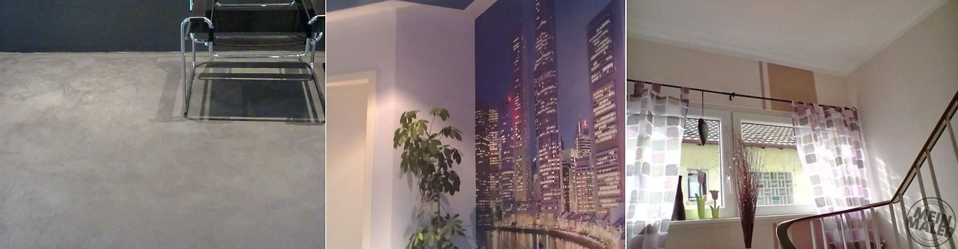 Treppenhaus Wandgestaltung Fototapete Bodenbelag Kalkboden Mannheim
