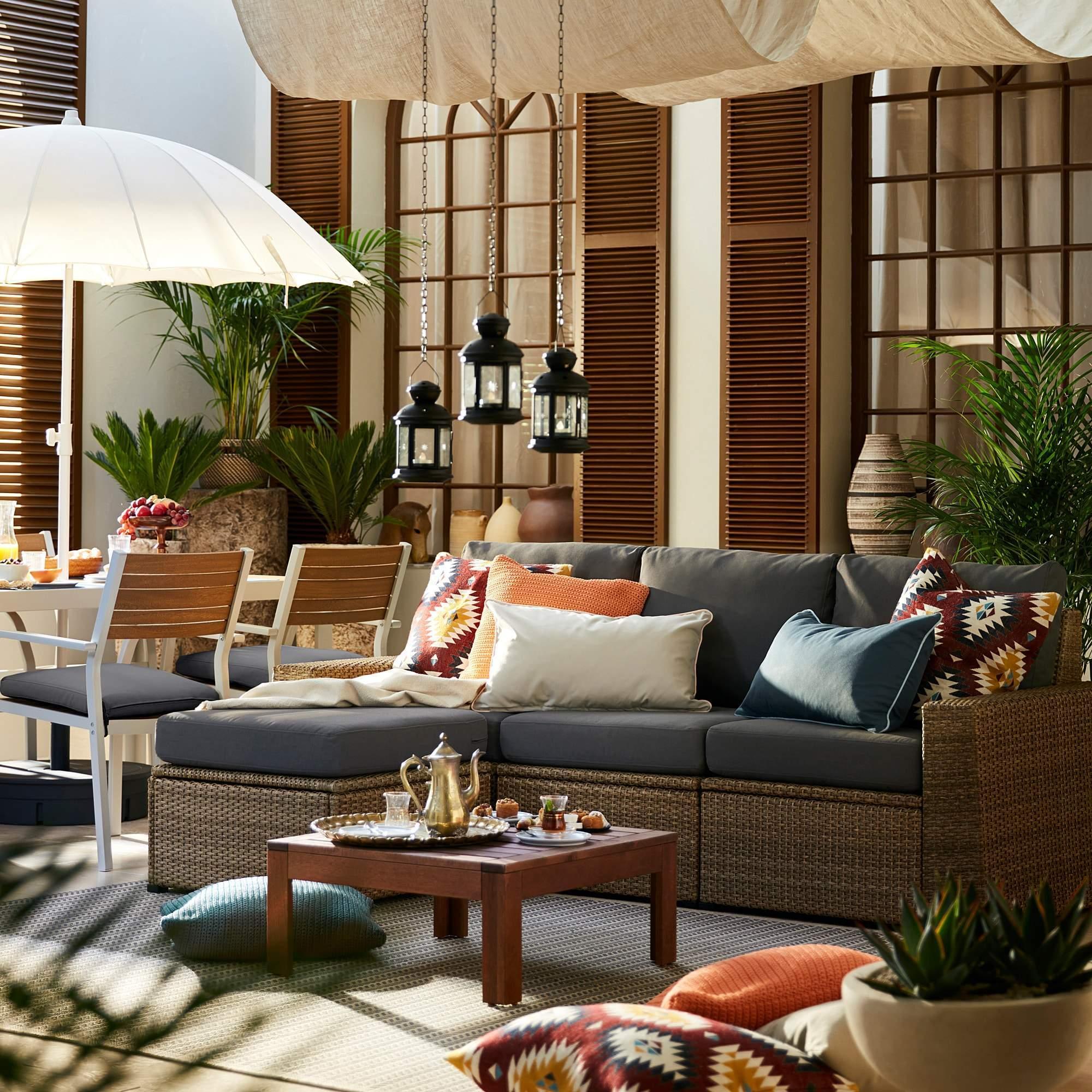 sitzkissen garten inspirierend sollerc296n 3 seat modular sofa outdoor with footstool brown of sitzkissen garten
