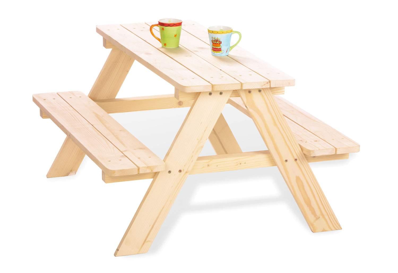 Kindersitzgarnitur Garten Luxus Pinolino Kindersitzgarnitur Für 4 Kinder 2 Bänke Und 1 Tisch Aus Fichte Natur Unbehandelt Vollmassiv L 90 X B 79 X H 50 Cm