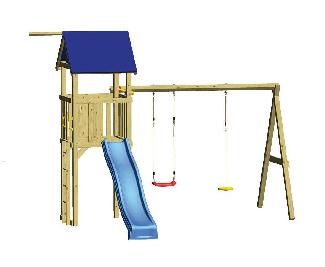 Spielturm Set SWING mit Rutsche und SchaukelD222dn3HHWITw