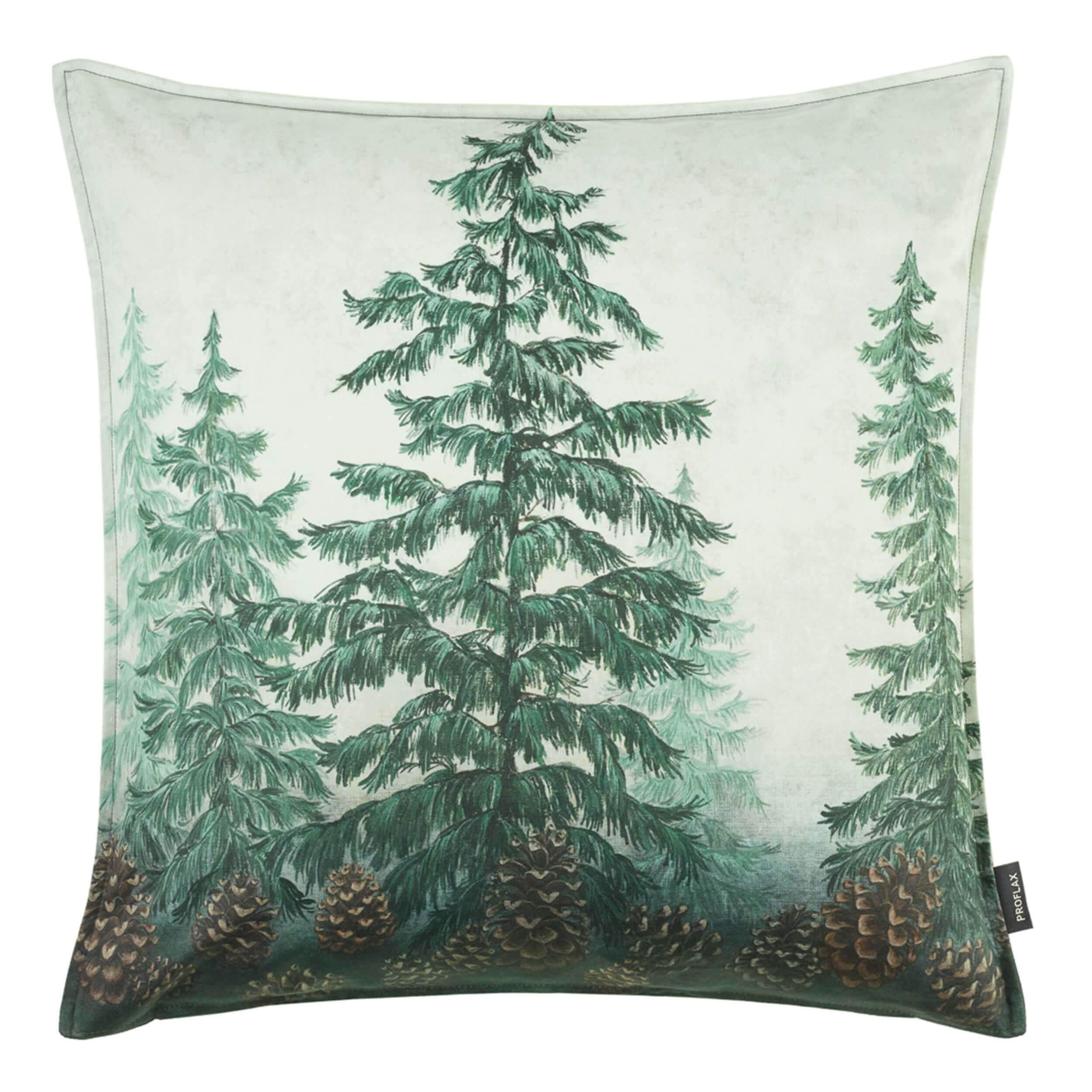 proflax kissen woodland 50x50 verde front