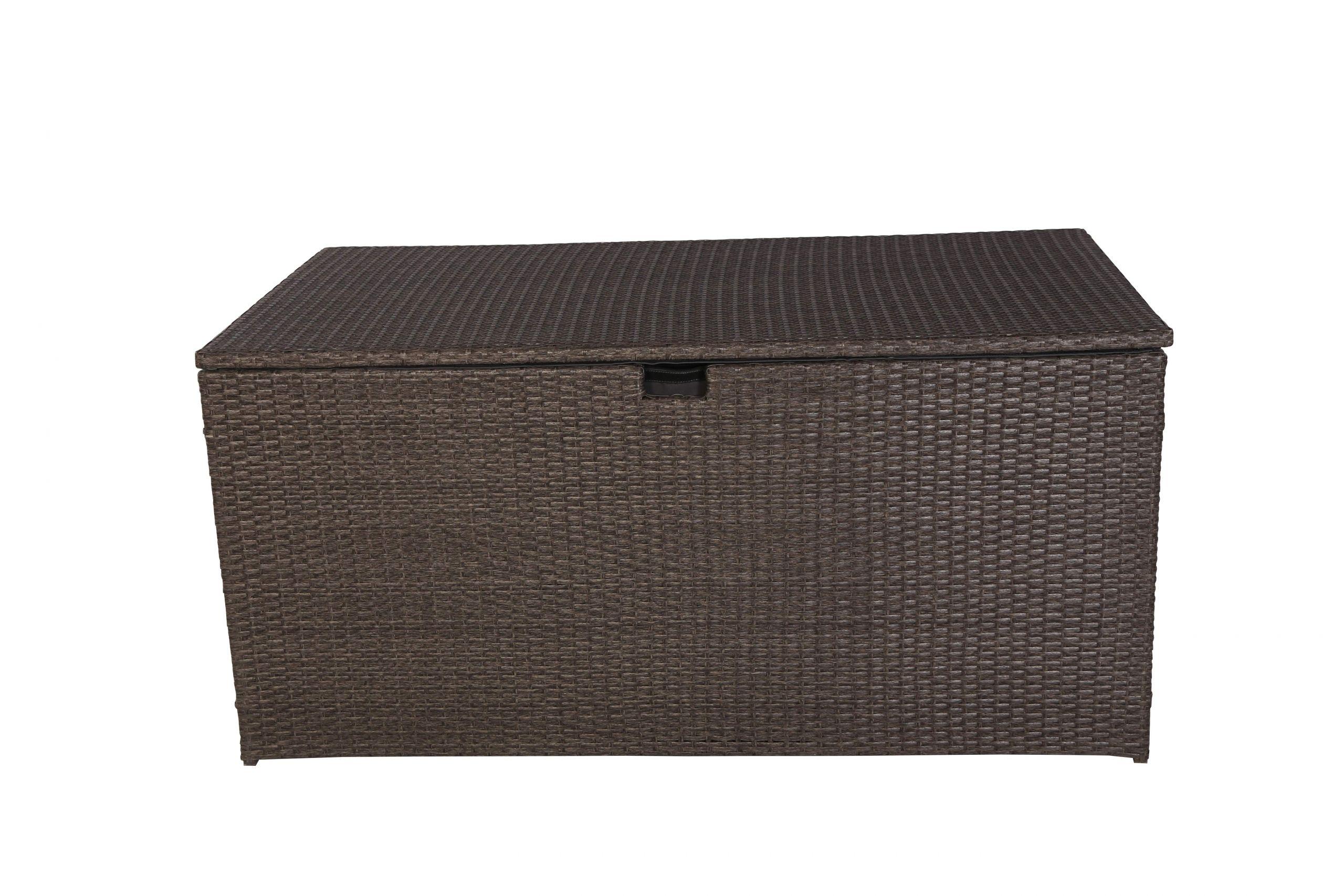 Kissenbox Garten Einzigartig Milos Polyrattan Auflagenbox Kissenbox Braun 145x80x60cm