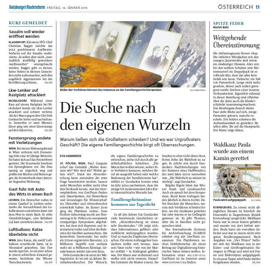 Salzburger Nachrichten 2015 01 16