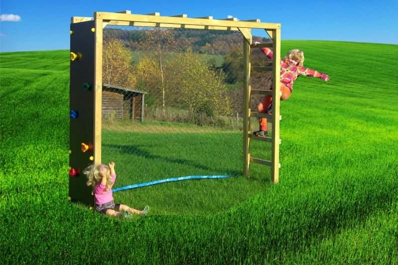 Klettergerüst Garten Kinder Einzigartig Fußballtor Mit Kletterwand Für Kinder Garten Fußballwand