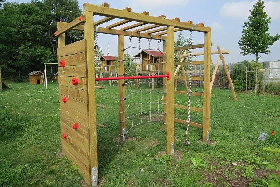 Klettergerüst Garten Kinder Frisch Kinder Klettergerüst Holz Premium Mit Kletterwand