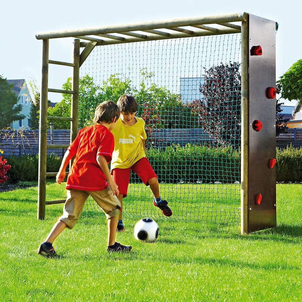 Klettergerüst Garten Kinder Neu Fußballtor Mit Kletterwand Für Kinder Garten Fußballwand