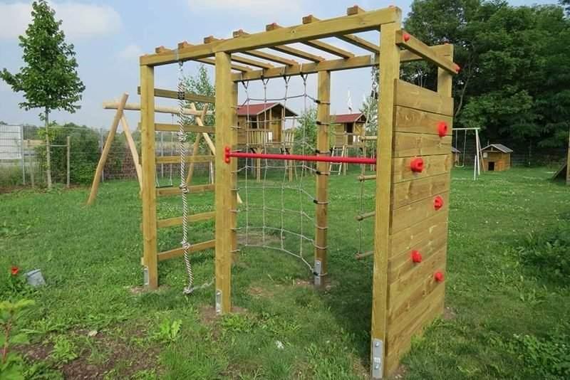Klettergerüst Garten Kinder Schön Klettergerüst Im Garten Eine Fantastische Spielecke Für