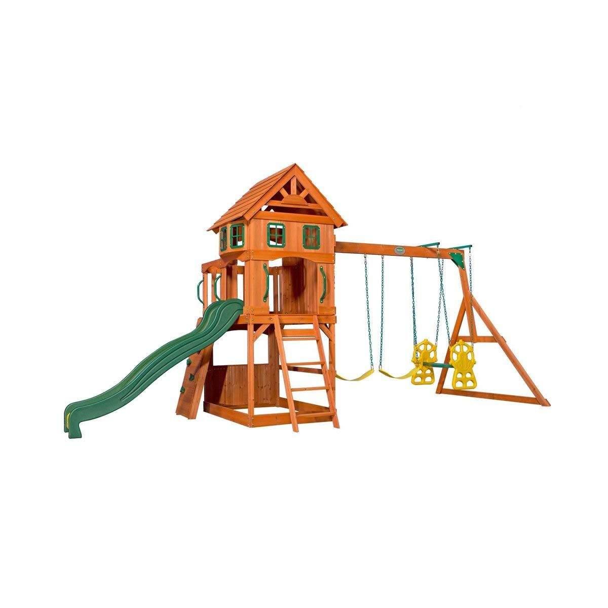 Kletterhaus Garten Einzigartig Backyard Spielturm atlantic Holz Mit Schaukel Und Rutsche