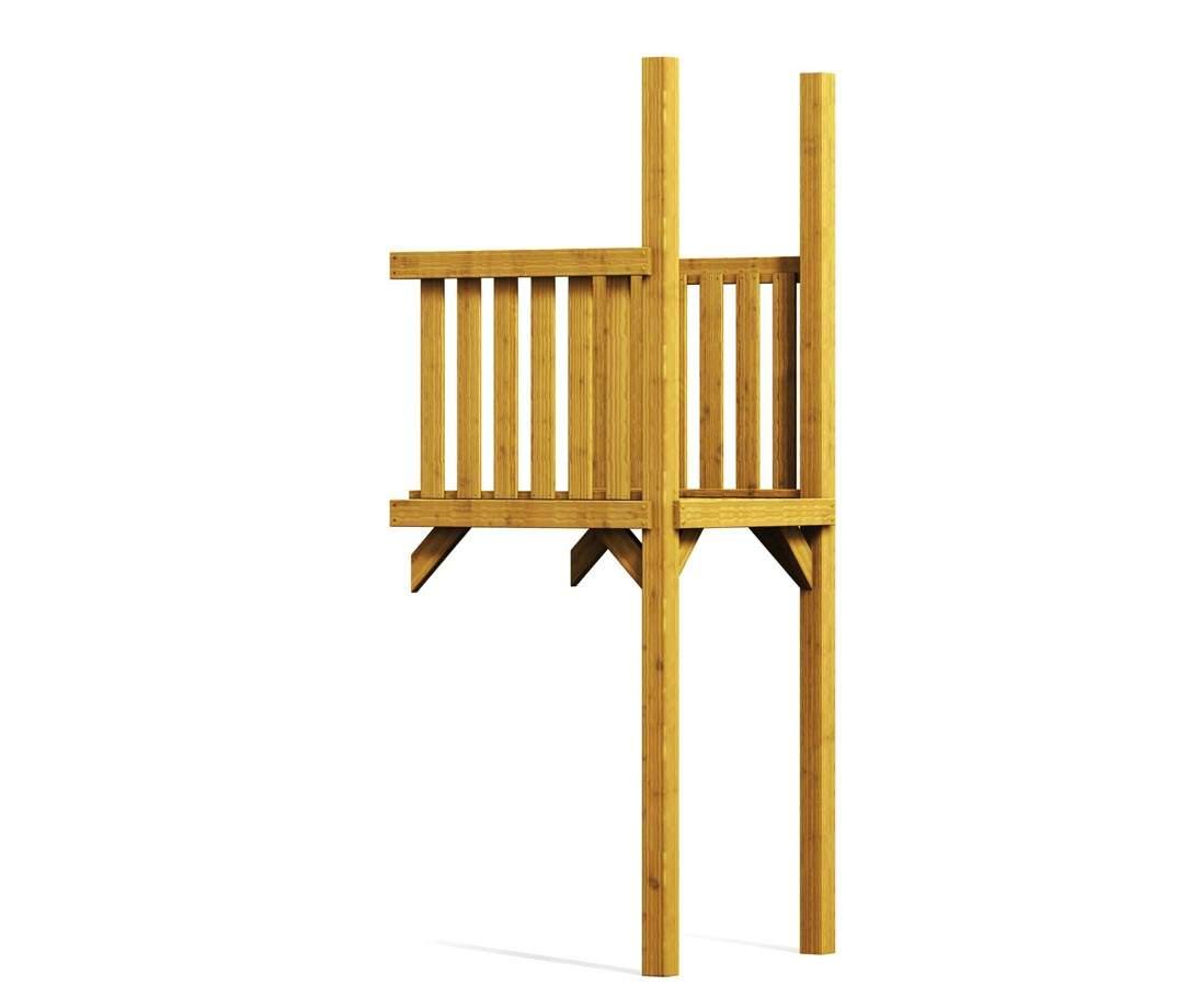 Holz Anbau fuer Basis Spielturm Verlaengerung aus Holz 101x113x290cmZuZ2OtdfFQzbB