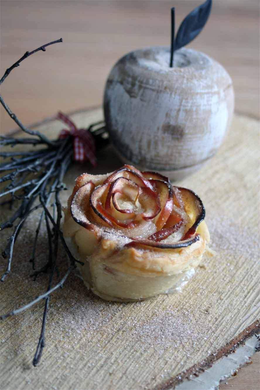 Apel Blätterteig Rose