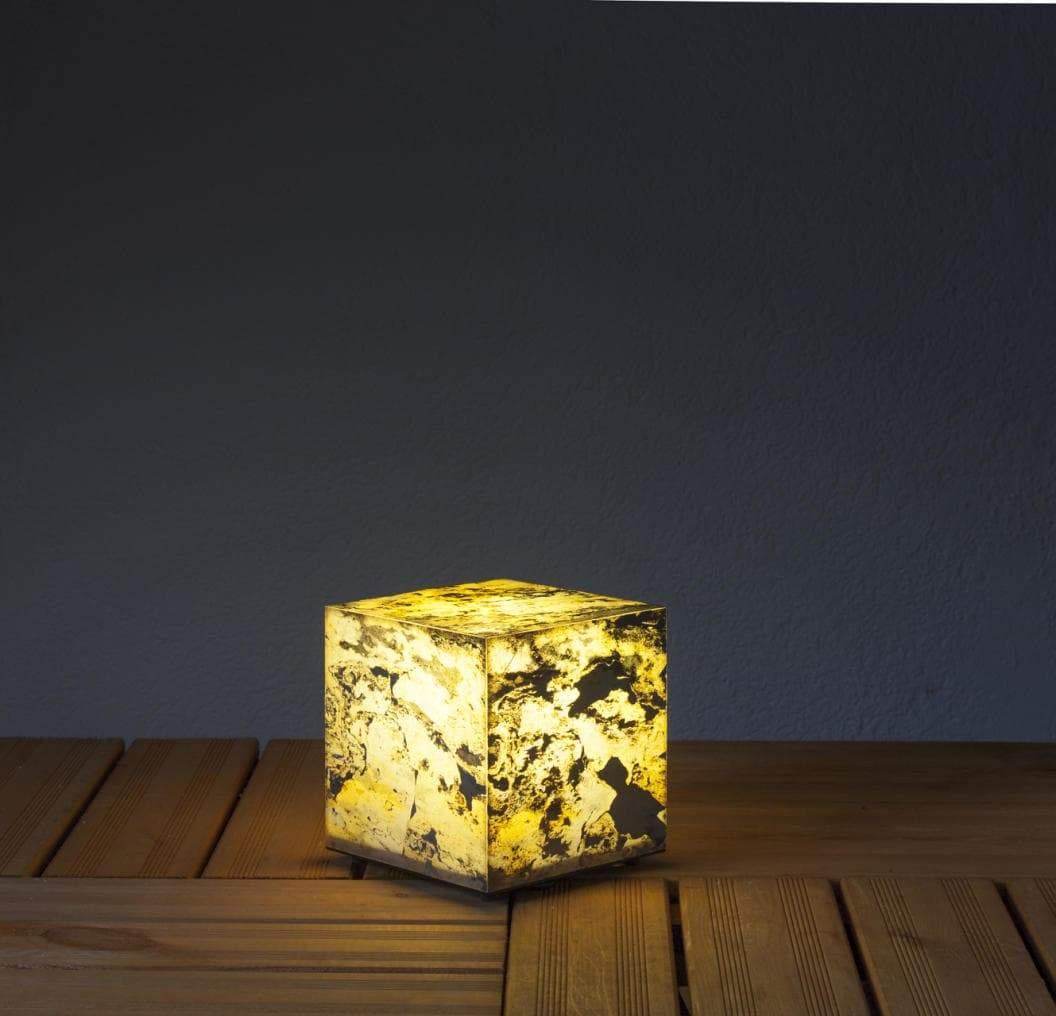 Schiefer W rfel 19 Foto Nr beleuchtet mit warmton