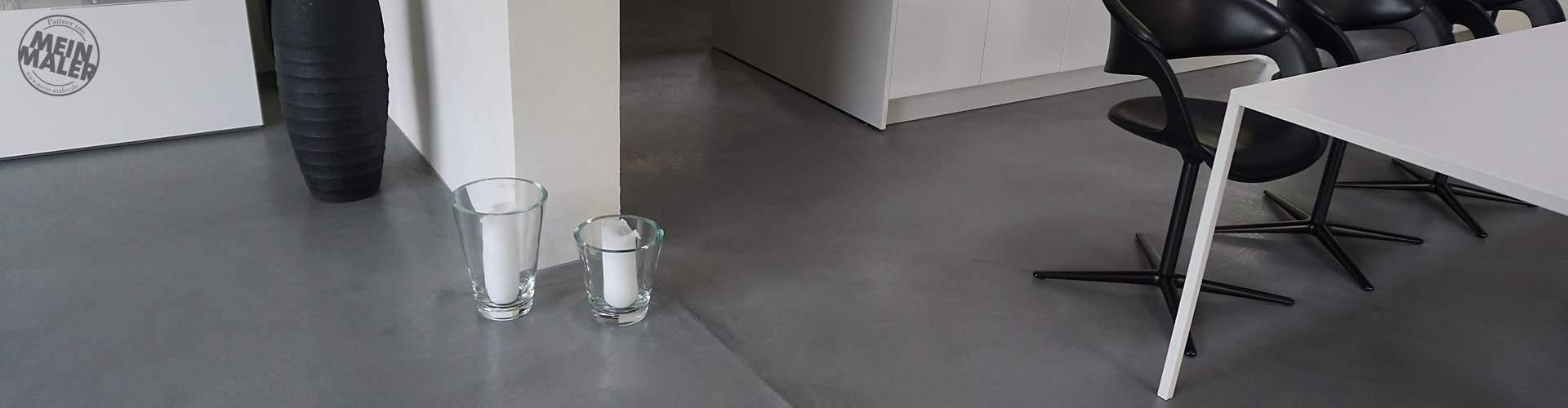 Edingen Neckarhausen Exclusives Wohnhaus Fugenloser Boden Kalkputz Pastellone s1