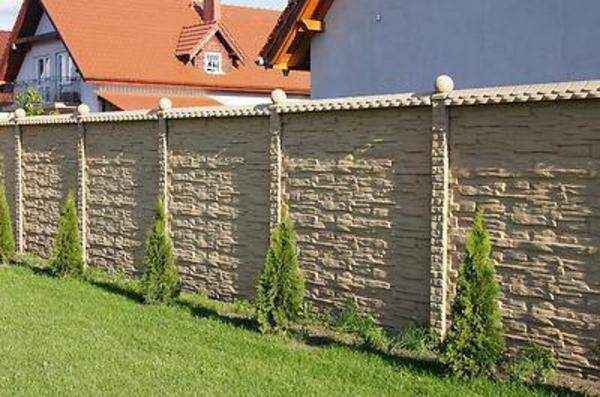 4 meter mediteraner betonzaun windschutz